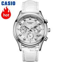 Casio watch Часы женские часы лучший бренд роскошный кожаный ремешок 50 м водонепроницаемые часы подарки женскиечасы алмазные Кварцевые наручны