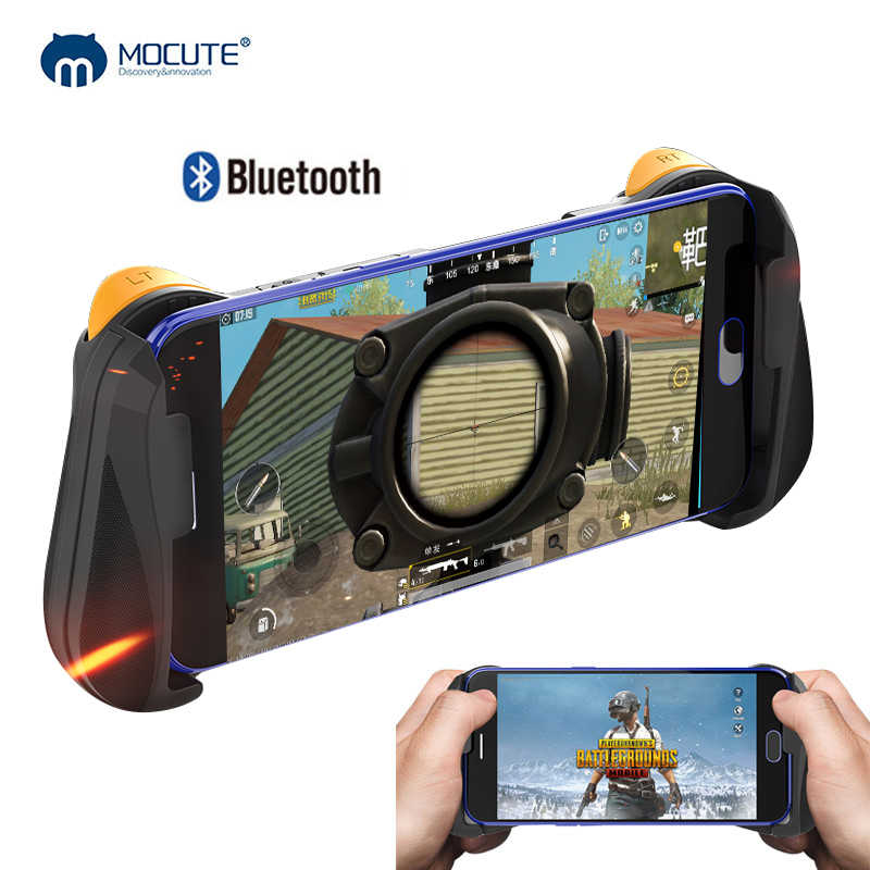 MOCUTE 057 Bluetooth 4.0 Gamepad PUBG Controller PUBG Mobile Triggers Joystick Wireless Joypad For iPhone XS For Android Tablet