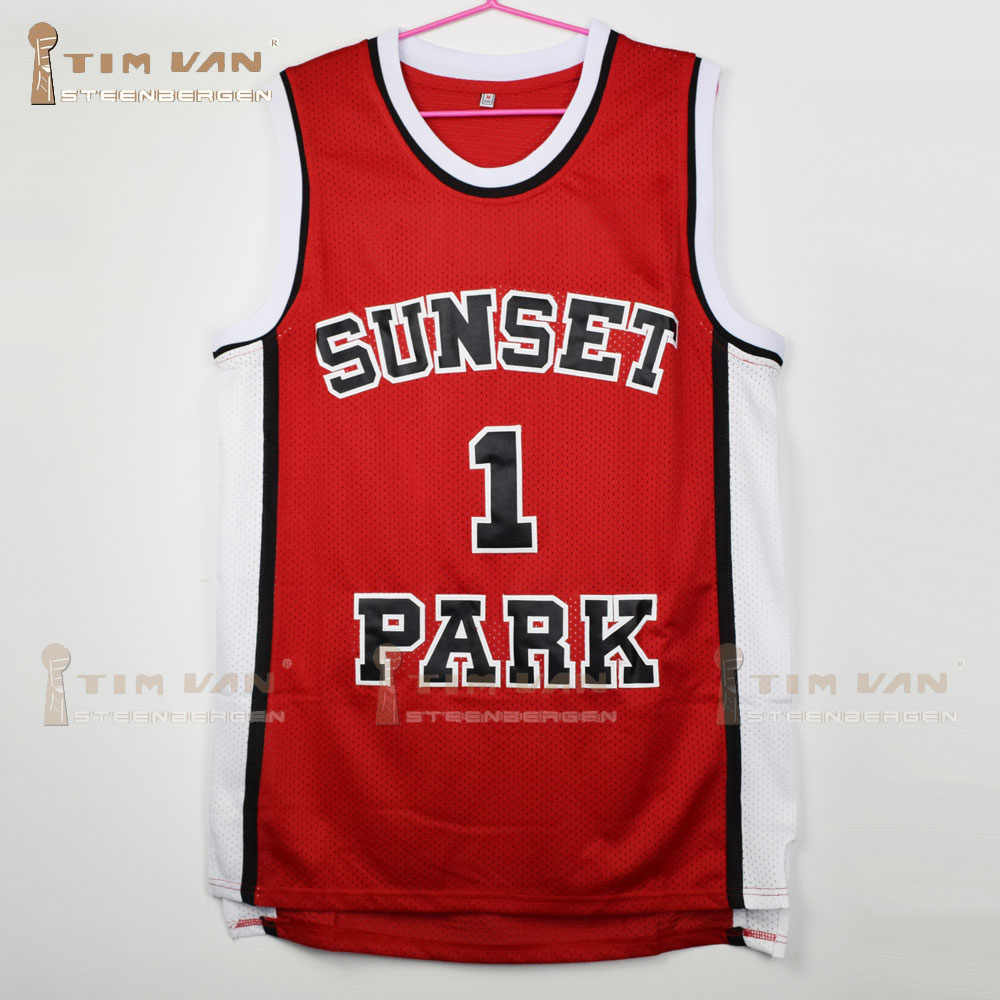 4b34c03ff58 TIM VAN STEENBERGEB Fredro Starr Shorty 1 Sunset Park Basketball Jersey All  Stitched All Sewn-