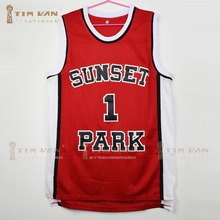 TIM VAN STEENBERGEB Fredro Starr Shorty 1 Sunset Park Basketball Jersey All Stitched All Sewn Red