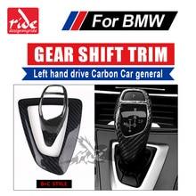 B+C Style For BMW E39 E60 E61 F10 F11 F18 G30 G38 520i 528i 530i Left hand drive Carbon car genneral Gear Shift Knob Cover trim