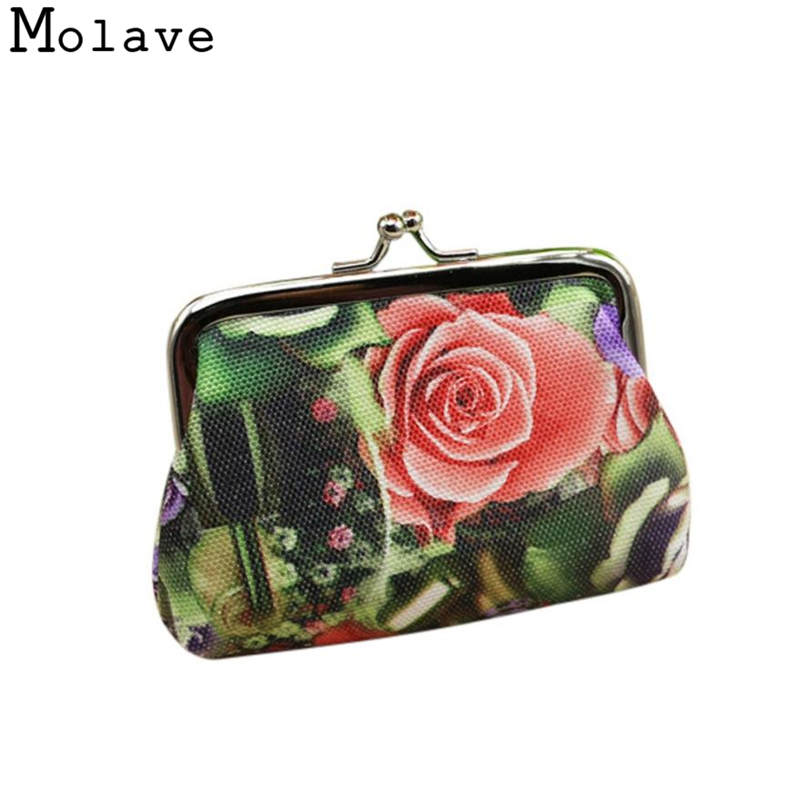 Naivety Canvas Coins Purses Rose Printing Coin Purse Small Floral Prints Multifunction Wallet Bag 50S71213 drop shipping