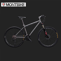 LAUXJACK Mountain Bike Titanium Frame 33 Speed Shimano XT Hydraulic Brakes 26 27 5 Wheels