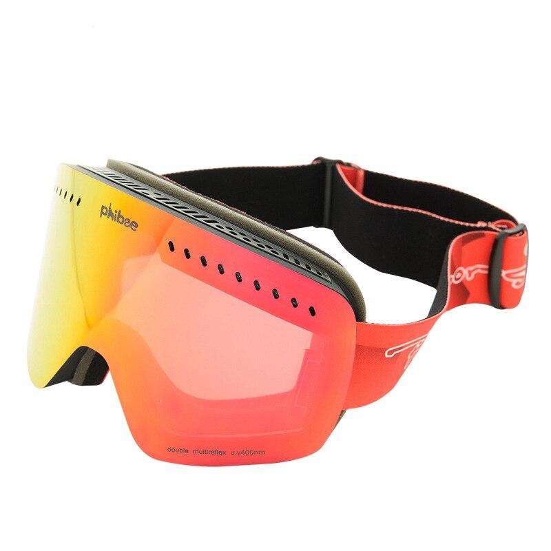 Enfants Lunettes de Ski Snowboard Double Anti-Brouillard UV400 Garçons Filles Protection Ski Lunettes de Neige D'hiver de Sport Ski Masque