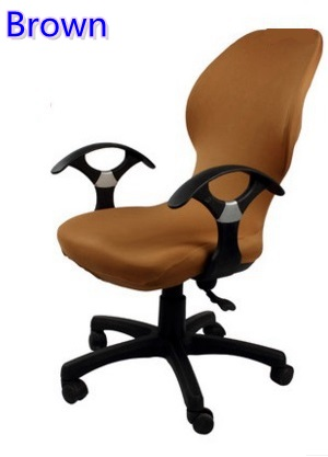 Brown colour lycra computer chair cover fit for office chair with armrest spandex chair cover decoration wholesale
