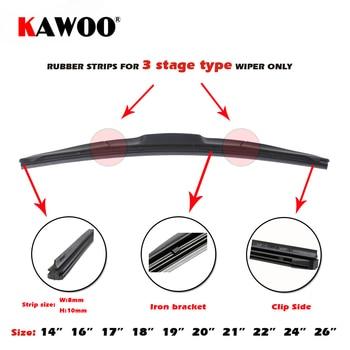 KAWOO voiture véhicule insérer bande de caoutchouc lame d'essuie-glace (recharge) 8mm doux 14