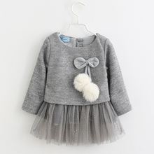 New Casual Long Sleeve And Two Piece Baby Girl Dress