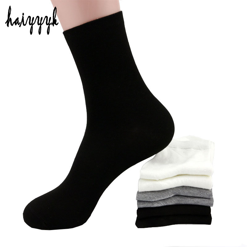 Classic black white gray solid 3 colors socks mens Bamboo Fiber Breathable mens socks casual socks for men Free shipping