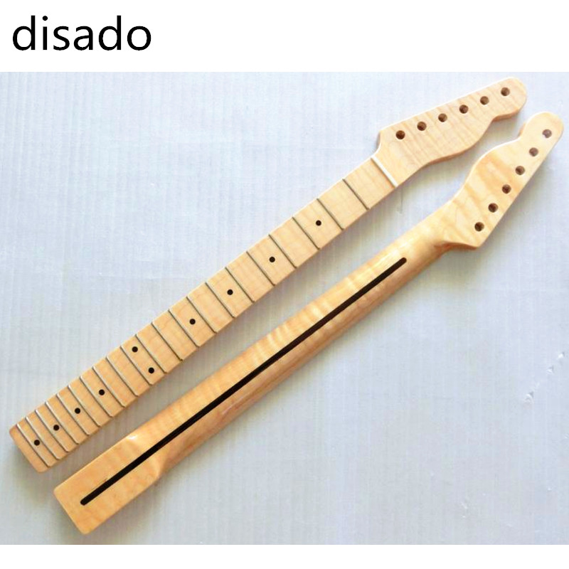 disado 21 Frets one piece Tiger flame maple Electric Guitar Neck Guitar Parts musical instruments accessories disado 22 frets inlay dots reverse electric guitar neck wholesale guitar parts guitarra musical instruments accessories