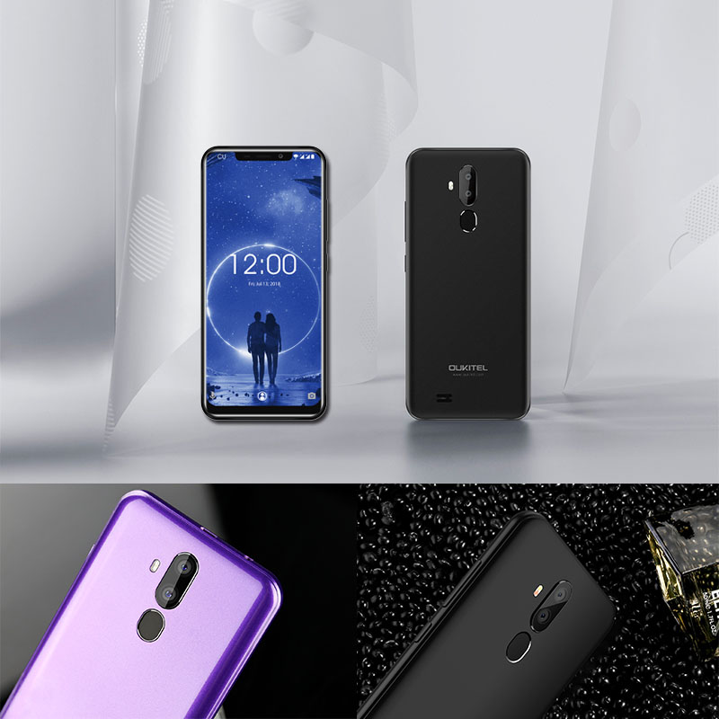 """Image 3 - OUKITEL C12 6.18"""" Android 8.1 Mobile Phone MT6580 Quad Core 2G RAM 16G ROM Fingerprint 3G 3300mAh Smartphone Face ID-in Cellphones from Cellphones & Telecommunications"""