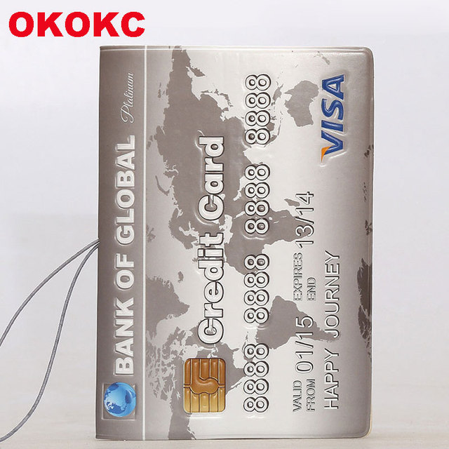 OKOKC 3D Simple Passport Cover PVC Leather Credit Card Passport Holder Travel Ticket Pouch Packages Travel Accessories