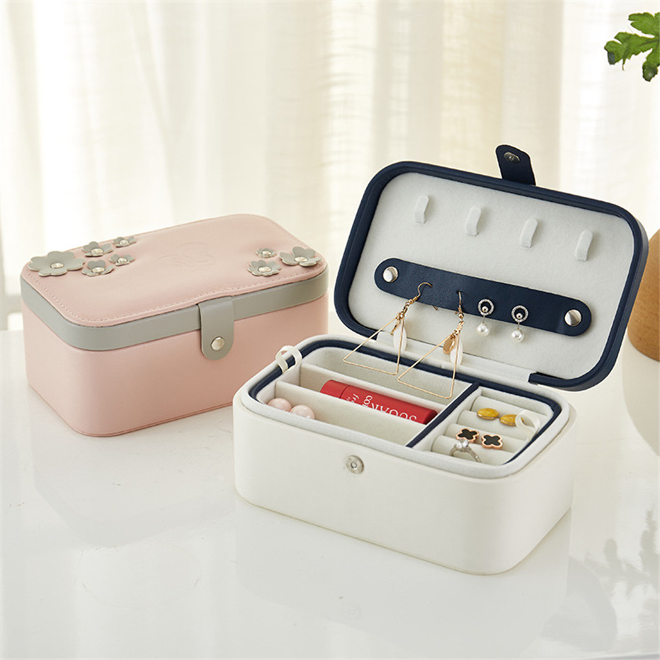 Jewelry Display Box Packaging Box Casket Exquisite Makeup Organizer Cosmetics Storage Case Container Boxes Birthday1