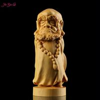 Boxwood Carving Hand Play A Furnishing Articles Cartoon Dharma Monk Carving Craft Supplies Characters