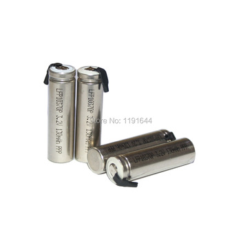 10PCS/LOT LiFePo4 10370 3 2V 130mAh With Connection Tab For IQOS
