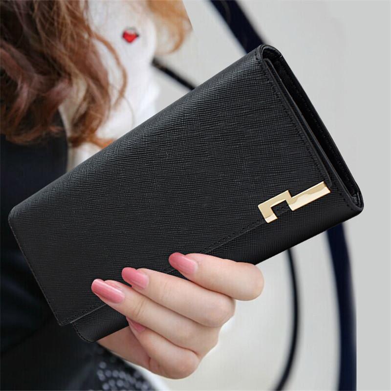 High Quality Genuine Leather Women Wallets 2018 Luxury Brand Fashion Ladies Wallet Leather Long Purse Card Holder Women's Clutch купить в Москве 2019