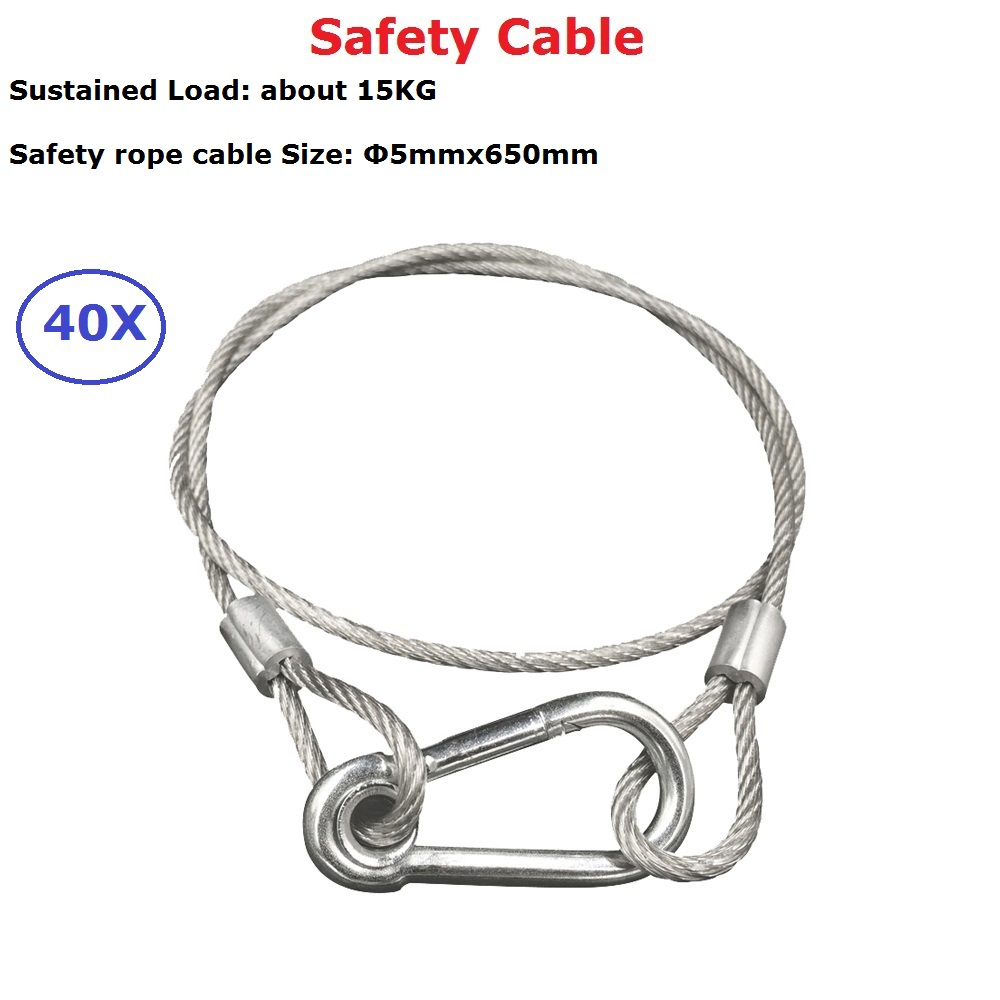 40Pcs Stainless Steel Rope Loading Weight 15kg , 5mm Thickness Wire ...