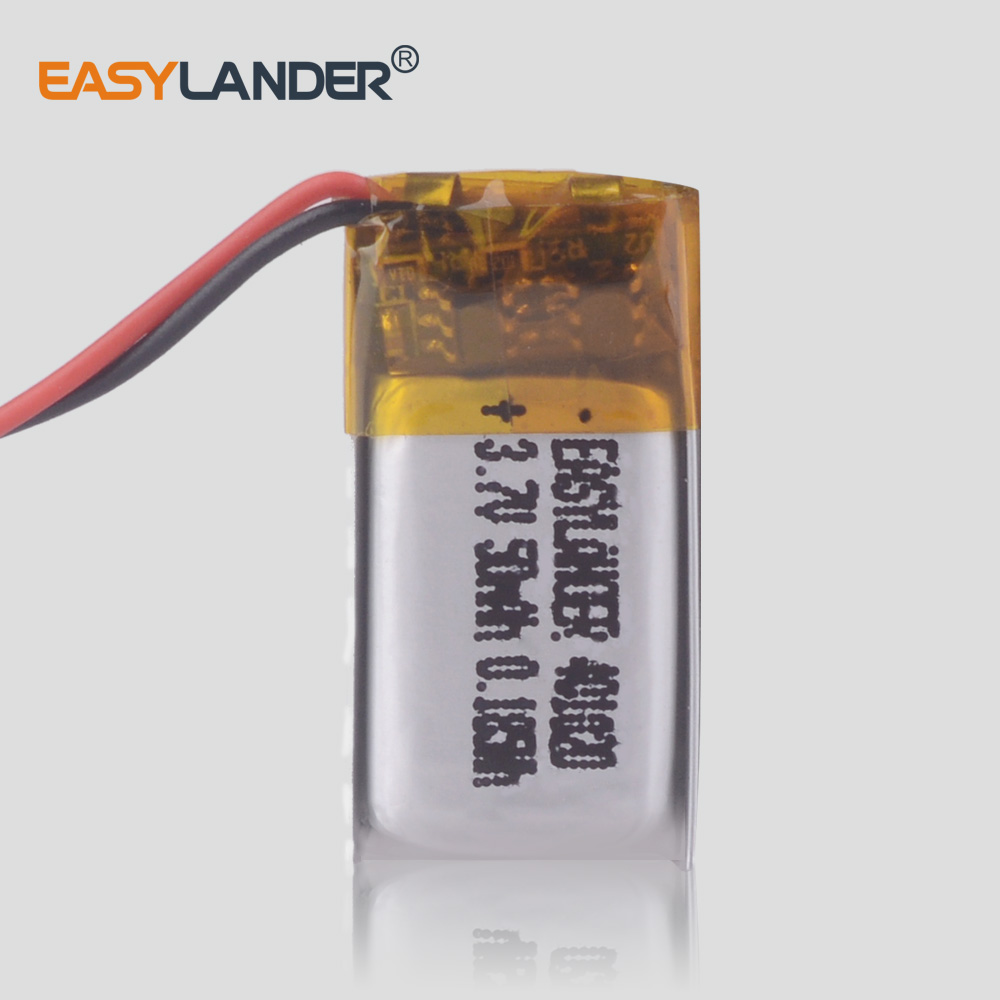 041020 <font><b>3.7v</b></font> <font><b>50mah</b></font> Bluetooth Speaker Bluetooth Headset digital products Lithium polymer <font><b>battery</b></font> 401020 image