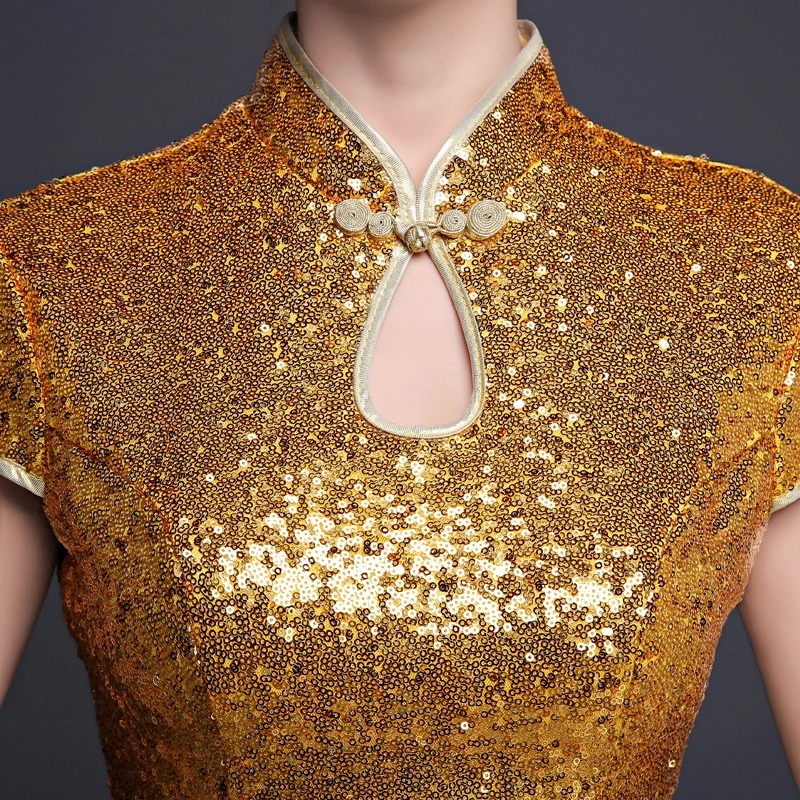 ханымы қысқа алтын соқпақ ресми кешкі - Ұлттық киім - фото 3
