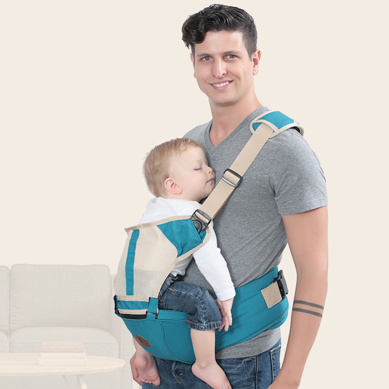 New Hipseat Breathable Front Facing Baby Carrier four seaons for baby  Sling Backpack Newborn Waist hipsit  Pouch Wrap Kangaroo-in Backpacks & Carriers from Mother & Kids on AliExpress