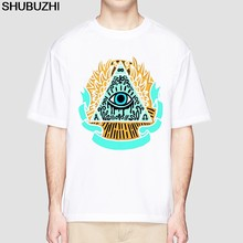 Illuminati New Arrival cotton Men Fashion Printed T-Shirt Short Sleeve T Shirt Hipster Cool Design Tops Male Casual Tshirt(China)