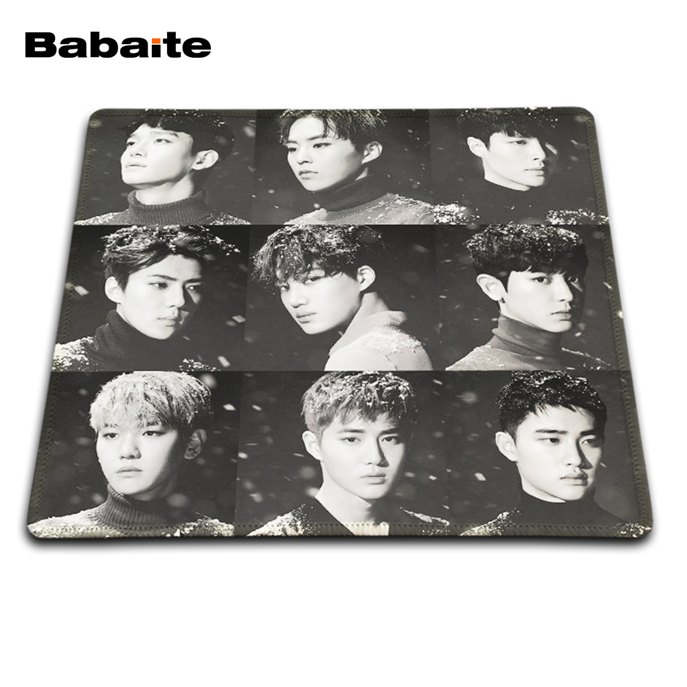 Babaite EXO Came Back Comics Gaming Mouse Mat Rubber Pad Customized Item Avaliable Durable Pad For Game Player Mouse Mat