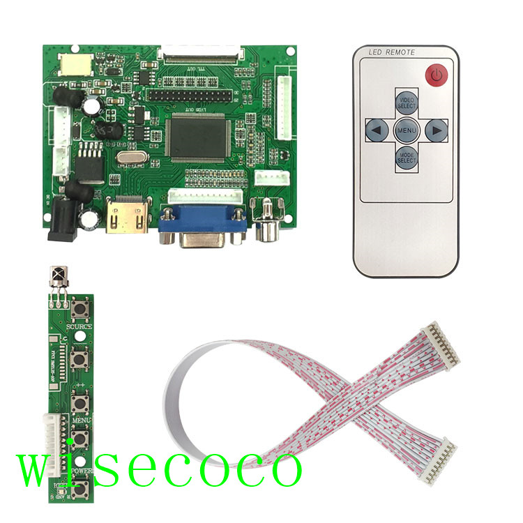 LCD TTL LVDS Controller Board HDMI VGA AV 50 PIN 39 PIN for AT070TN90 92 94 Support Automatically Raspberry Pi Driver Board(China)
