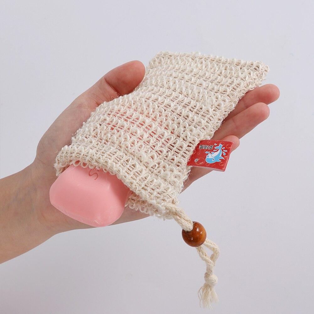 1PC Fashion Nice Natural Ramie Shower Exfoliator Sponge Pouch Comfortable Blister Mesh Soap Saver Bag Foaming Net