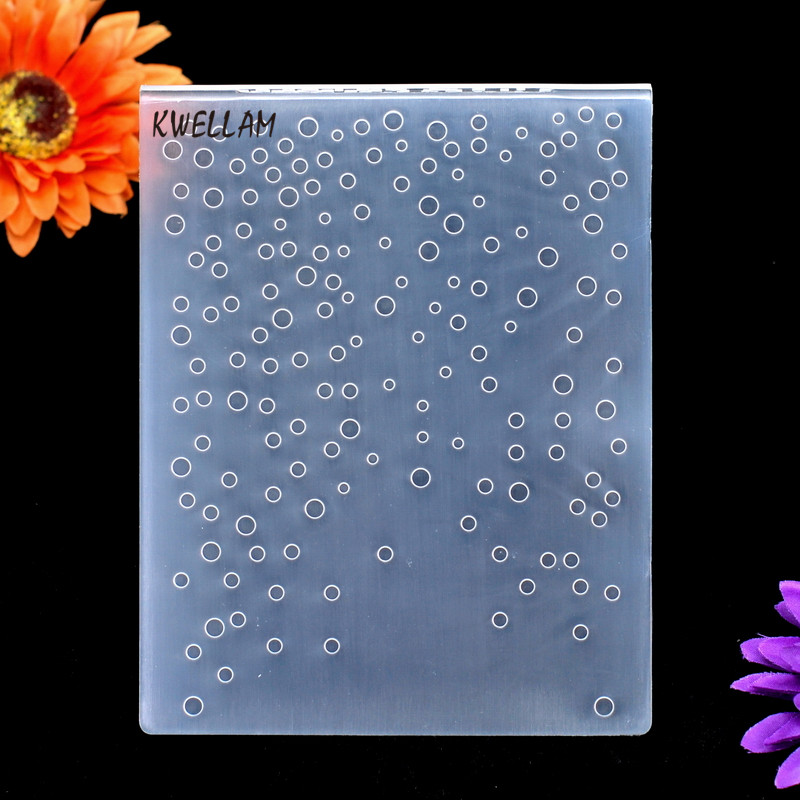 15x15cm KWELLAM Star Garland Plastic Embossing Folders for Card Making Scrapbooking and Other Paper Crafts