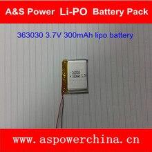 3X363030 3,7 V 300 mAh wiederaufladbare lipo smartwatch batterien