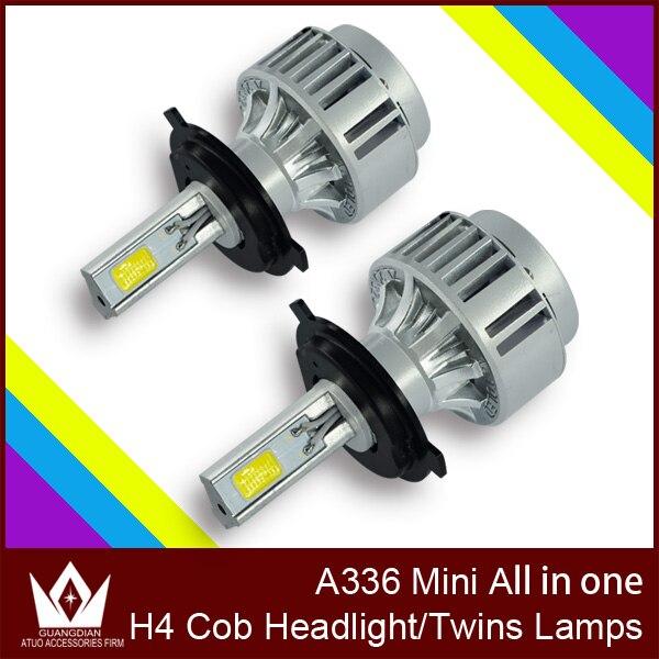 ФОТО Cheetah high bright  New CAR COB LED Headlight COB fog lights A336 3300LM 36W 3000K 6000K H4 LED Headlight H4 HI/LO all in one