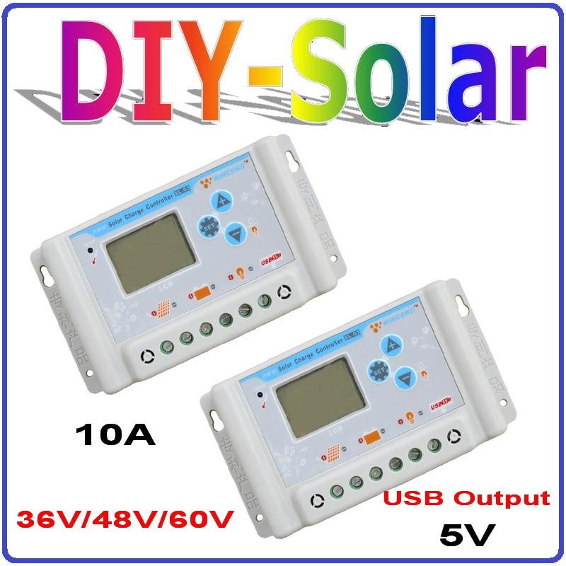36V/48V/60V 10A Auto sensing solar charge controller with 5V output USB and big LCD screen36V/48V/60V 10A Auto sensing solar charge controller with 5V output USB and big LCD screen