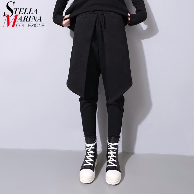 2017 Korean Style Winter Women Stretch Sweatpants With Extra Layer Elastic Waist Female Special Hip Hop