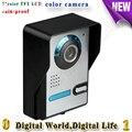 Waterproof Visible wired Home door intercom 7 inch color TFT LCD Doorbells with color camera support video intercom