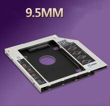 9.5mm Universal SATA 3.0 2do HDD DISCO Duro SSD Caddy para CD/DVD-ROM Optical Bay
