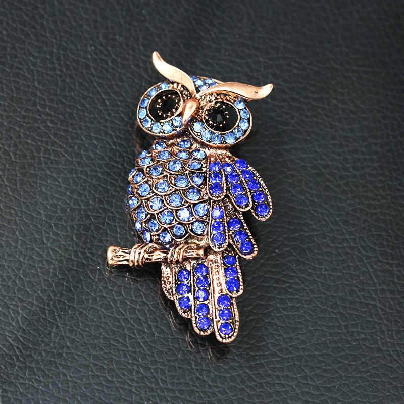 Big Owl Bros Untuk Pernikahan Wanita Chic Purple Cristal Broches