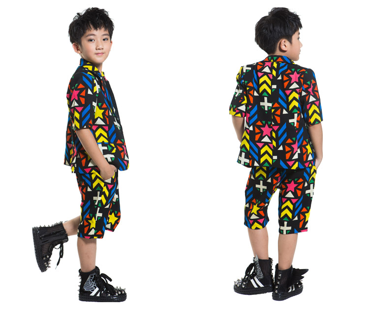 2aab567a5 2019 2018 New Fashion Dance Wear Kids Boys Suit Stage Costume For ...