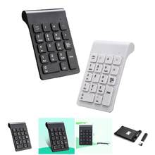 New Portable 2.4G Wireless Digital Keyboard USB Number Pad 18 Keys Mini Numeric Keypad For Laptop PC Notebook Desktop D(China)