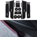 13Pcs/Set Car Styling Slot Pad Interior Door Groove Mat Latex Anti-Slip Cushion For Peugeot 308 S 1.6 T Car Internal Dedicated