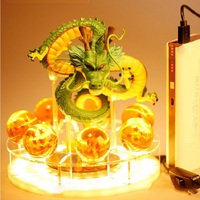 Dragon Ball lamp Anime Goku 7 Dragon Crystal Dragon Ball Night Light Table Lamp Combination Model DIY Holiday Gift