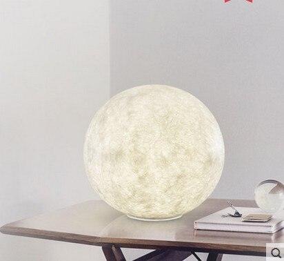 3D печать Луны настольные лампы 2 Цвет изменить сенсорный переключатель лунного света для Спальня книжный шкаф Декор ночной Светильник креативный подарок - 2