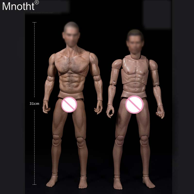 Mnotht 1/6 AT012 Thickness Chest Broad Shoulder Wolves Chest Hair Increase Muscle Male Body for 12in Toy Soldier Action Figure b mnotht 1 6 action figure panzer third