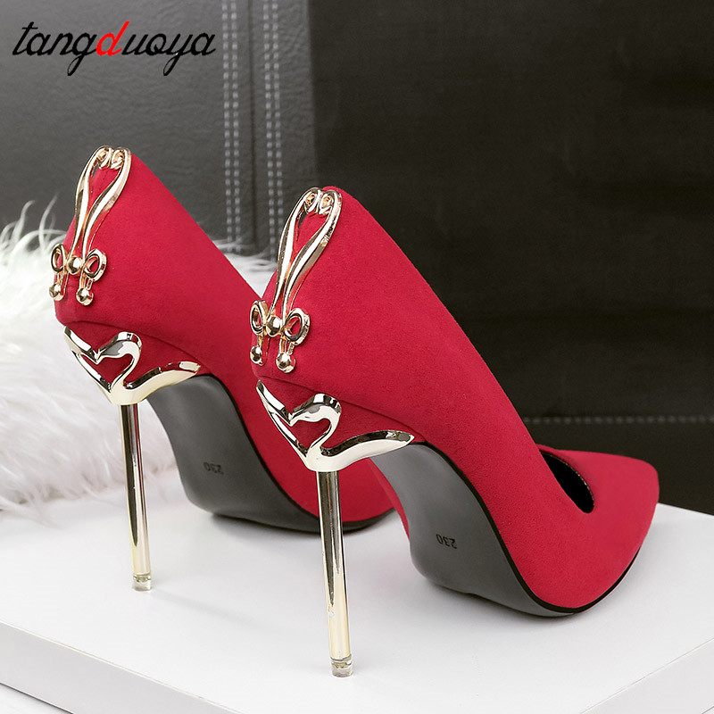 Ladies High Heels Women Shoes Pumps High Heel Stiletto Sexy Wedding Shoes Woman 2019 Pumps Black Red tacones mujer