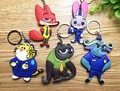 Amazing 5pcs  Animals Action Figure Keychain Toys