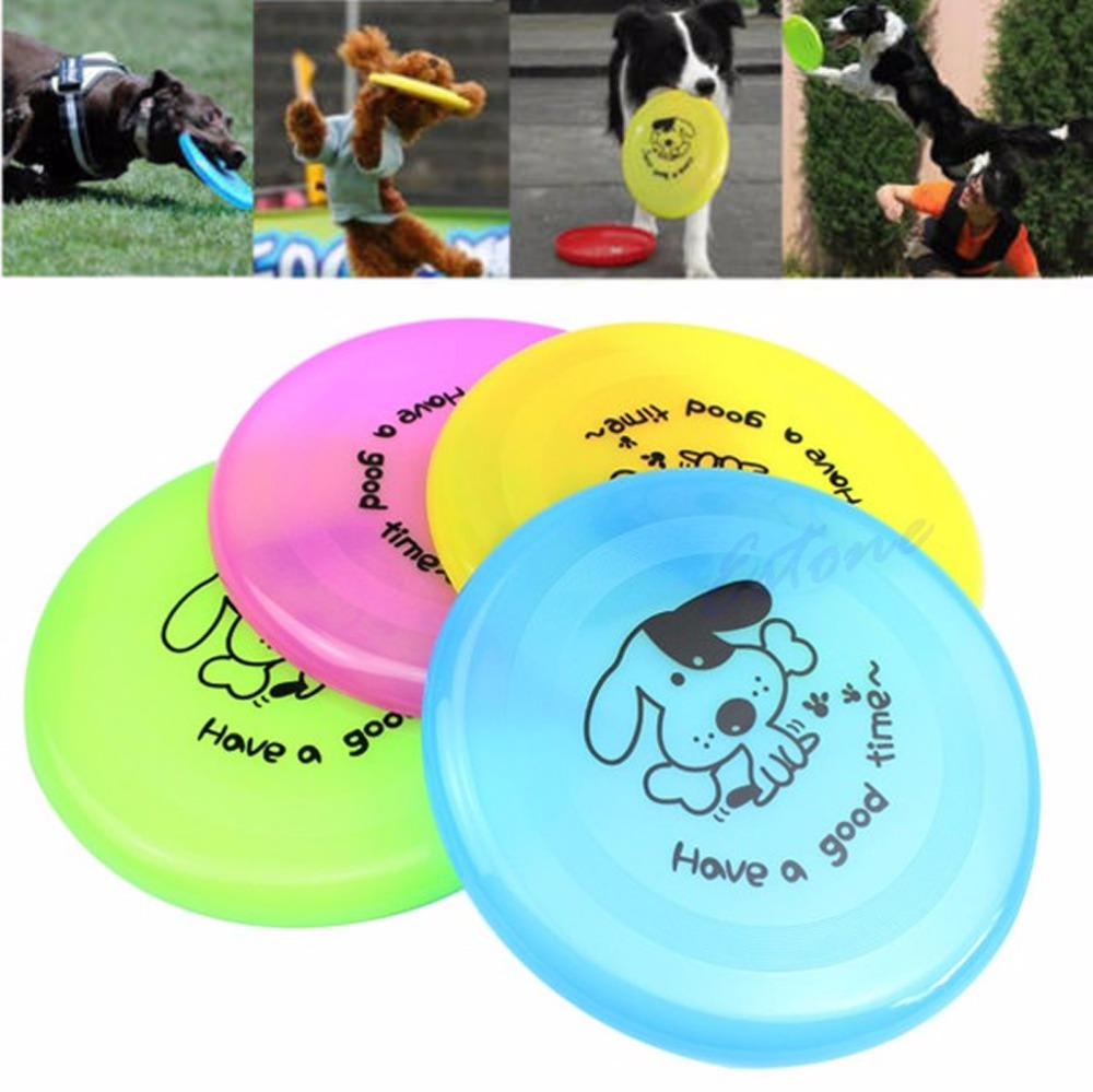 Large Dog Frisbee Training Puppy Toy Fetch Plastic Flying Disc Frisby 8 New