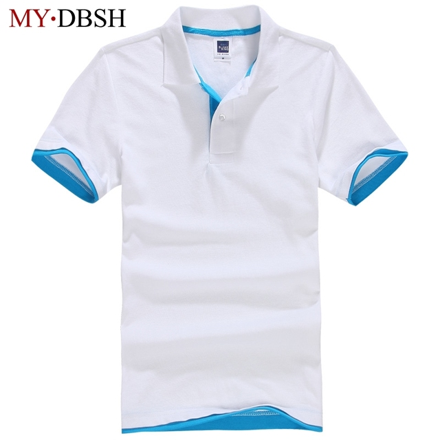 4ef7b8b36 Summer Elastic Cotton Short Sleeve Polo Shirts Men Shirt Men s Clothing  Couple Slim Shirts Design For