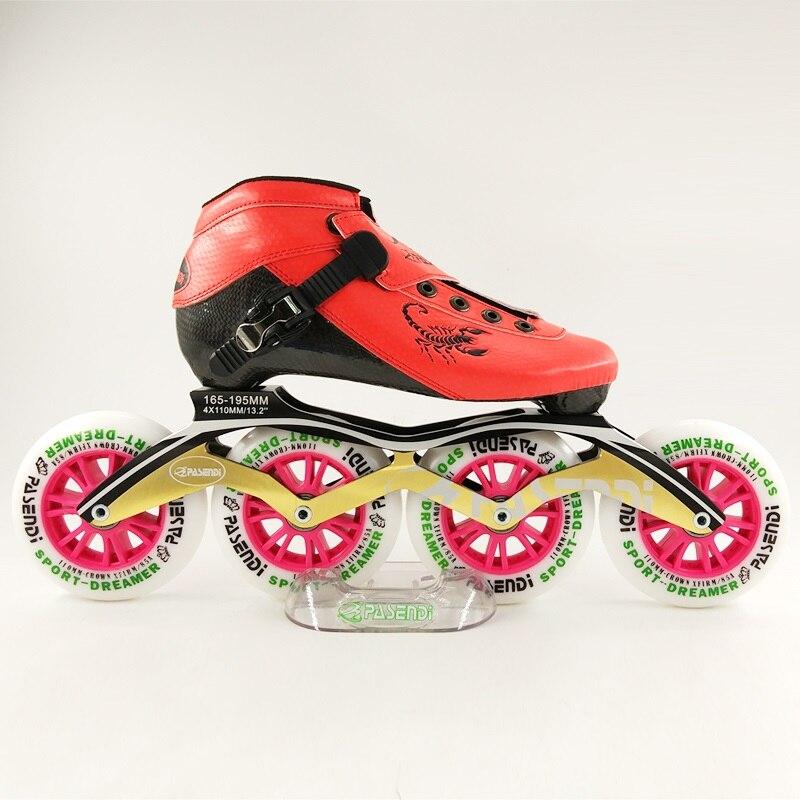 Gewidmet Pasendi Kohlefaser Professionelle Eisschnelllauf Schuhe Frauen/männer Inline Skates Racing Schuhe Erwachsenes Kind Skating Schuhe Sport & Unterhaltung Rollschuhe, Skateboards Und Roller
