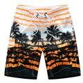 2015 HOT Homens Quick Dry Calções Marca de Verão Casuais Roupas de Coco Árvores Seaside Board Shorts Shorts Da Praia dos homens Swimwears # B21