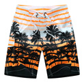 2015 HOT Quick Dry Men Shorts Brand Summer Casual Clothing Coconut Trees Swimwears Beach Shorts Men's Seaside Board Shorts #B21