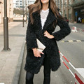 Womens Fashion Long Wool Solid Trench Coat Jacket Parka