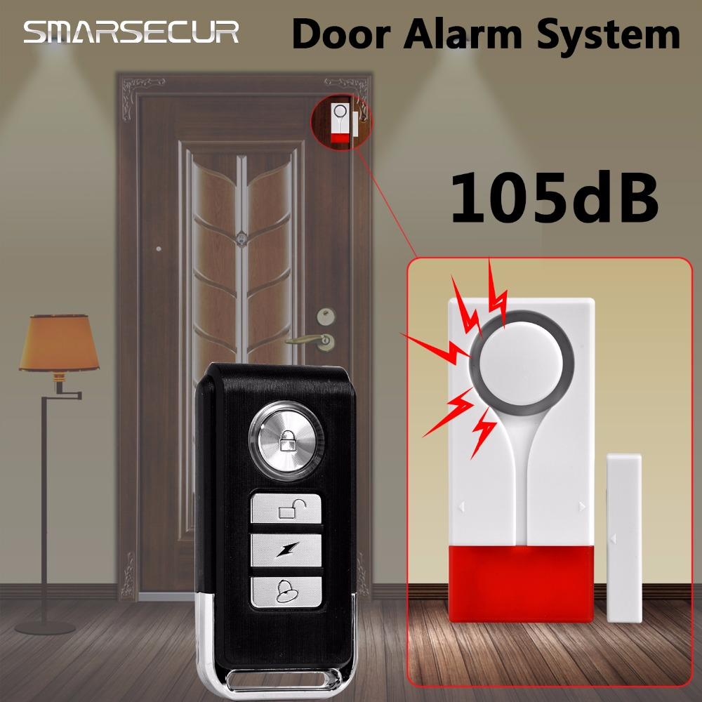 SMARSECUR Home Security Door Window Magnetic Sensor Alarm Warning System Wireless Remote Control Door Detector Burglar Alarm wireless multi function door sensor magnetic window detector for security alarm system automatic door sensor 433mhz